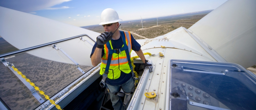 Windturbine wind energie Eyecatcher aanhaakoog