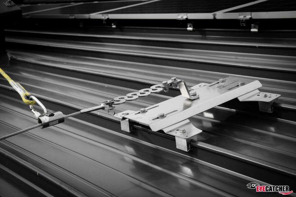 Life Line System On Curved Kalzip Roof Eyecatcher Bv